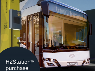 hydrogen, H2, H2Station, fueling, hydrogen fueling, bus, Everfuel