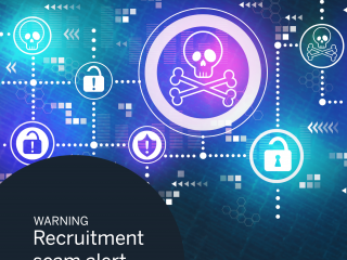 recruitment scam, jobs, job posting, alert, warning